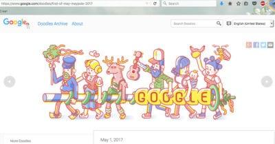 Google Doodle Maypole Screenshot