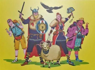 Iceland Icelander Sheep Poster Tourists
