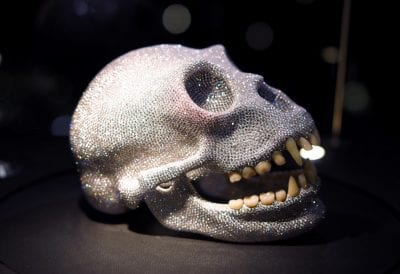 Diamond Monkey Skull