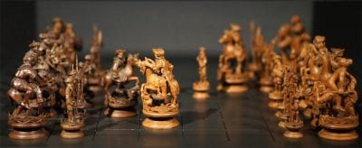 Medieval chess set antique шахматы