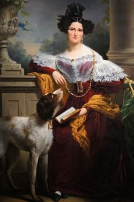 Portrait of Alida Christina Assink, 1833, Jan Adam Kruseman, Dutch, Rijksmuseum, девушка, портрет, картина, красавица, beautiful girl, painting