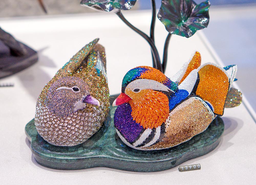 chmuck Kristallstein Swarovski Elements art кристаллы Сваровски стразы Vienna Wien Вена Mandarinente Mandarin Duck утка мандаринка