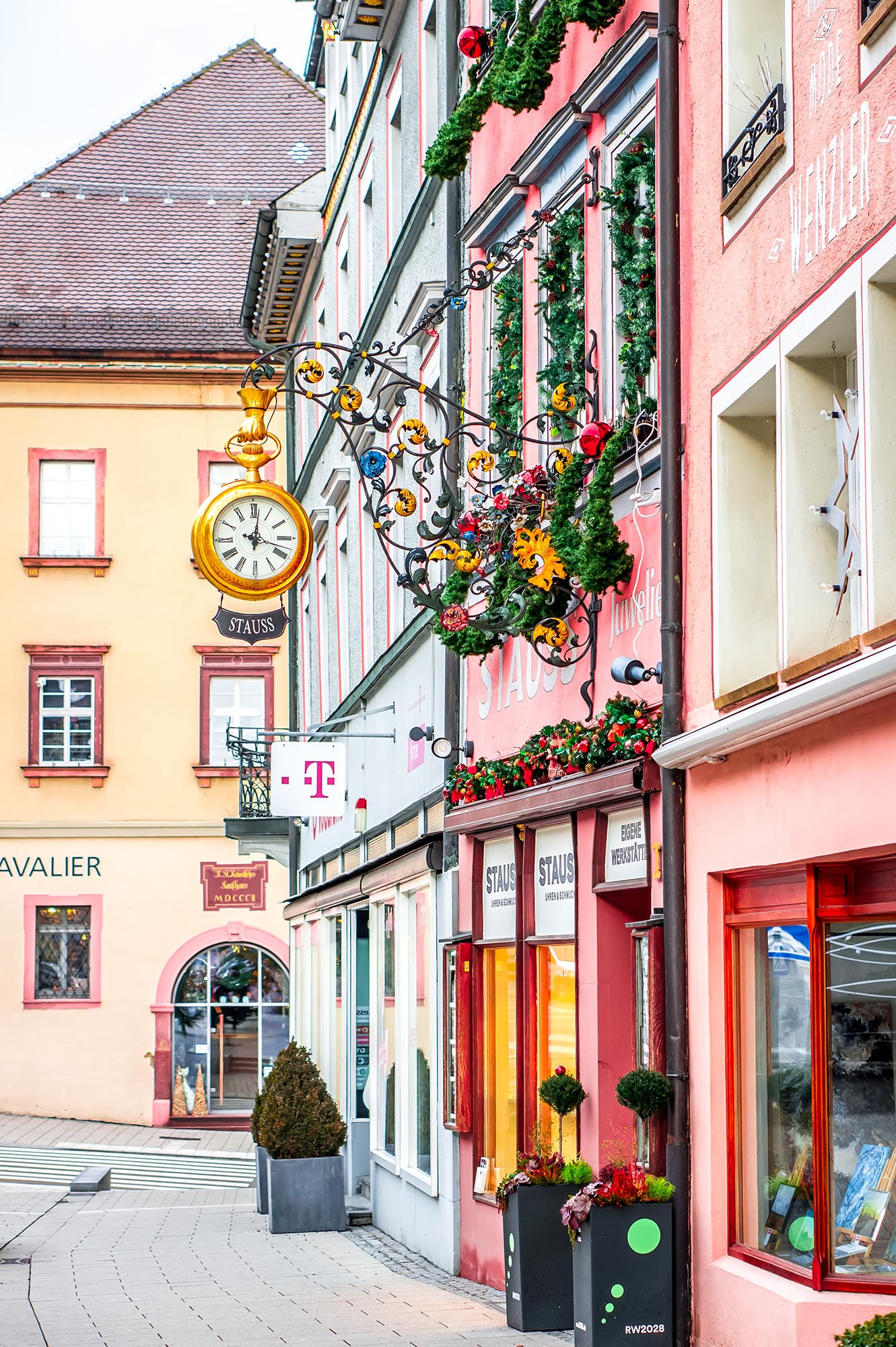 Germany Clock Rottweil Town город Германия Deutschland
