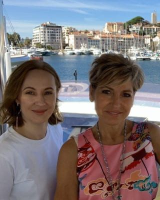 Yana Cosmetiqua & Martine Micallef in Cannes